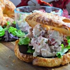 Cranberry Turkey Salad on Croissants