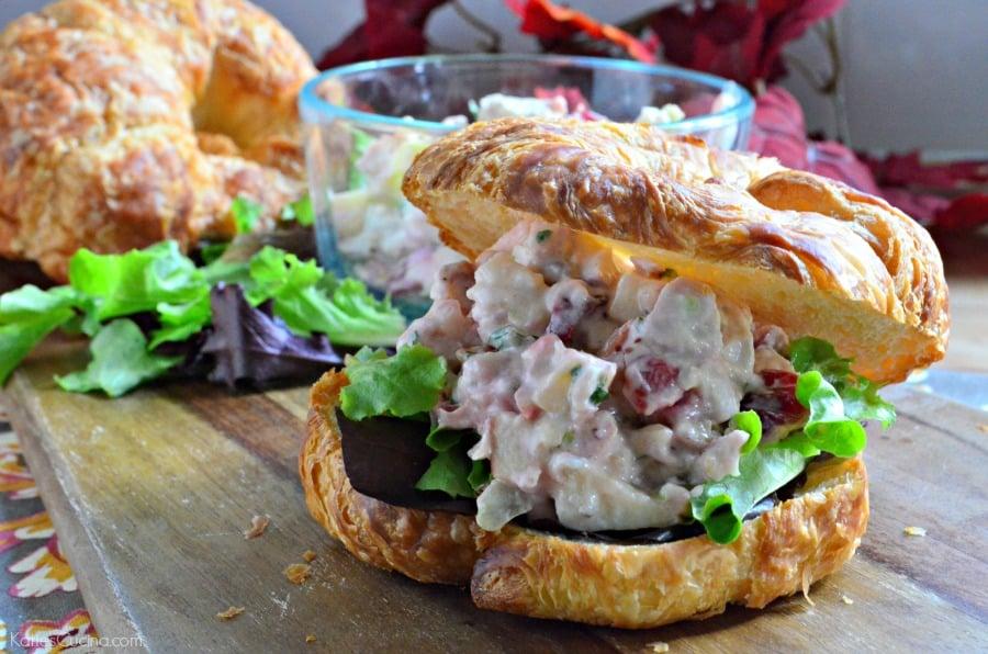 Turkey Salad on Croissants