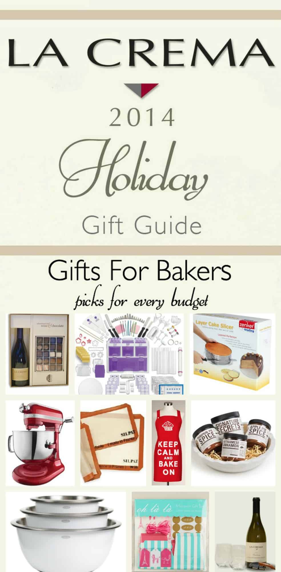 La Crema Holiday Gift Guide 2014 - Baking Guide
