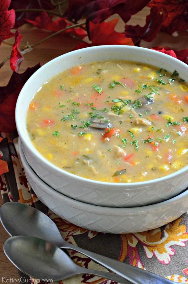 Potato Corn Chowder with Turkey