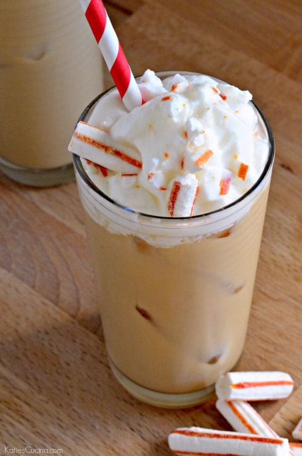 Taste just like the coffee house version! Easy Iced Peppermint Coffee recipe!