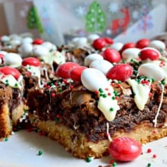 M&M's Black & White Peppermint Brownies 2