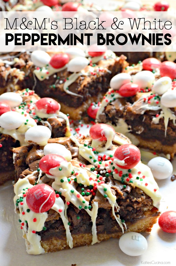 M M S Black White Peppermint Brownies