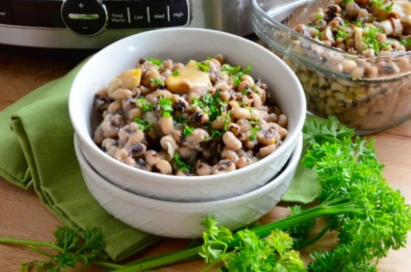 Slow Cooker Black Eye Peas