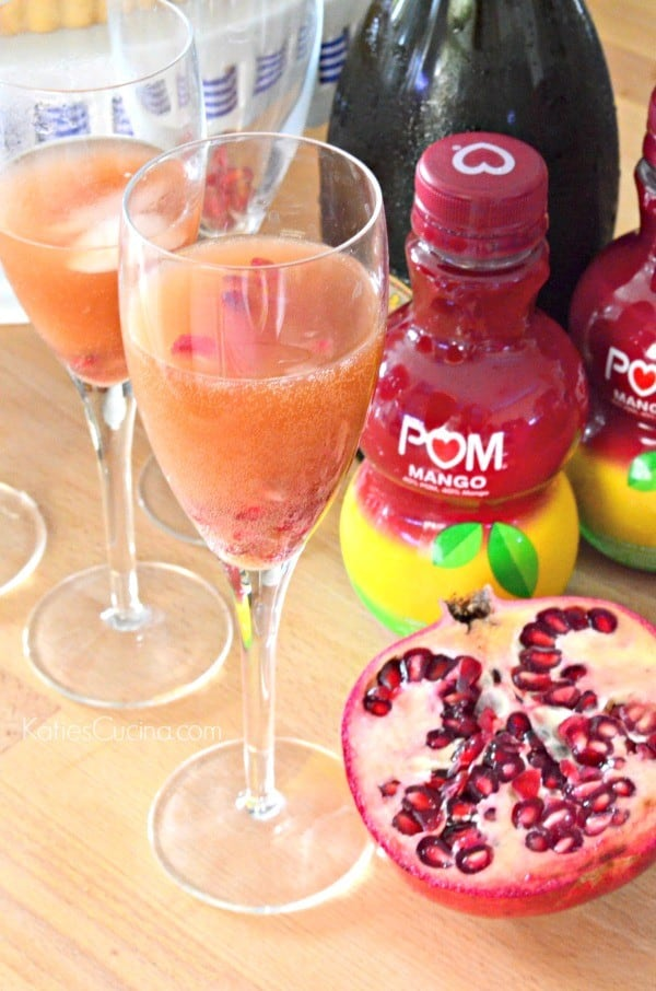 pomegranate mango bellini