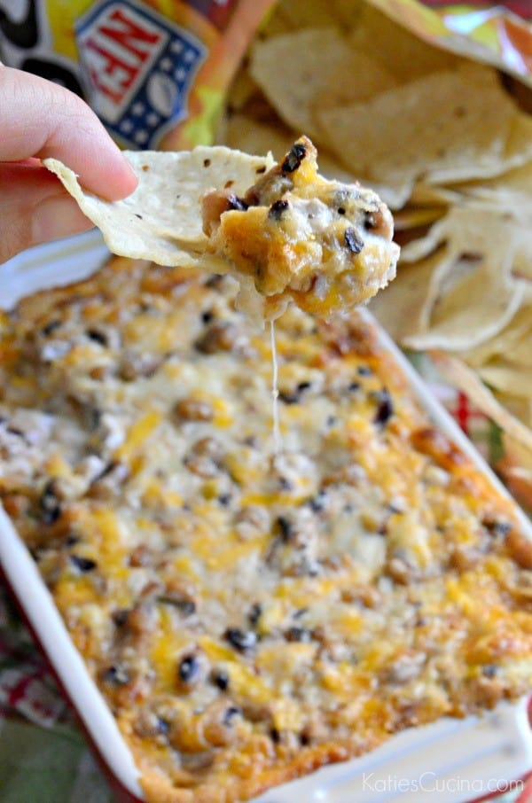 Cheesy Black Eye Pea Dip 1