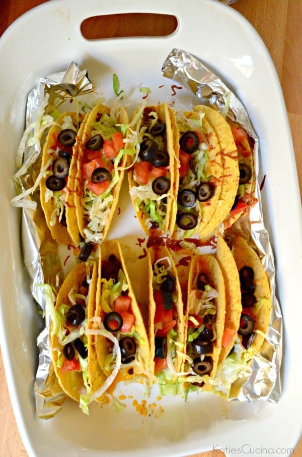 Ground Beef and Chorizo Baked Tacos 1
