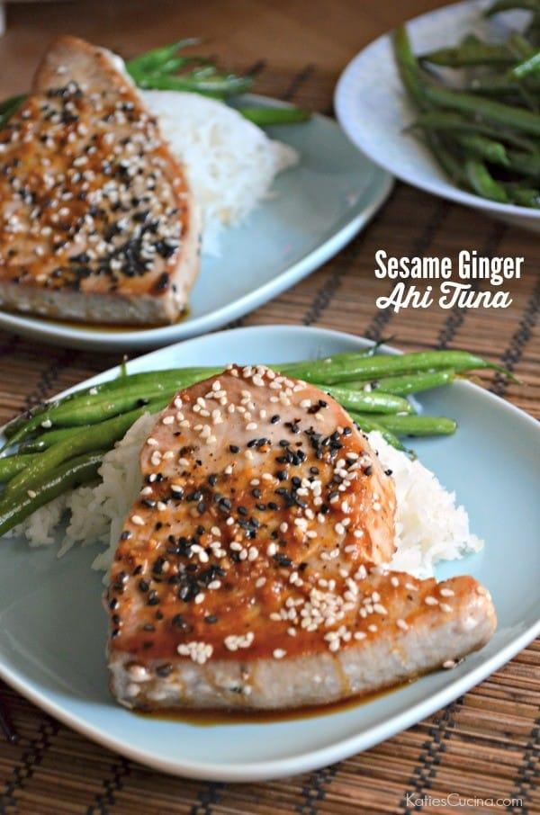 Sesame Ginger Ahi Tuna