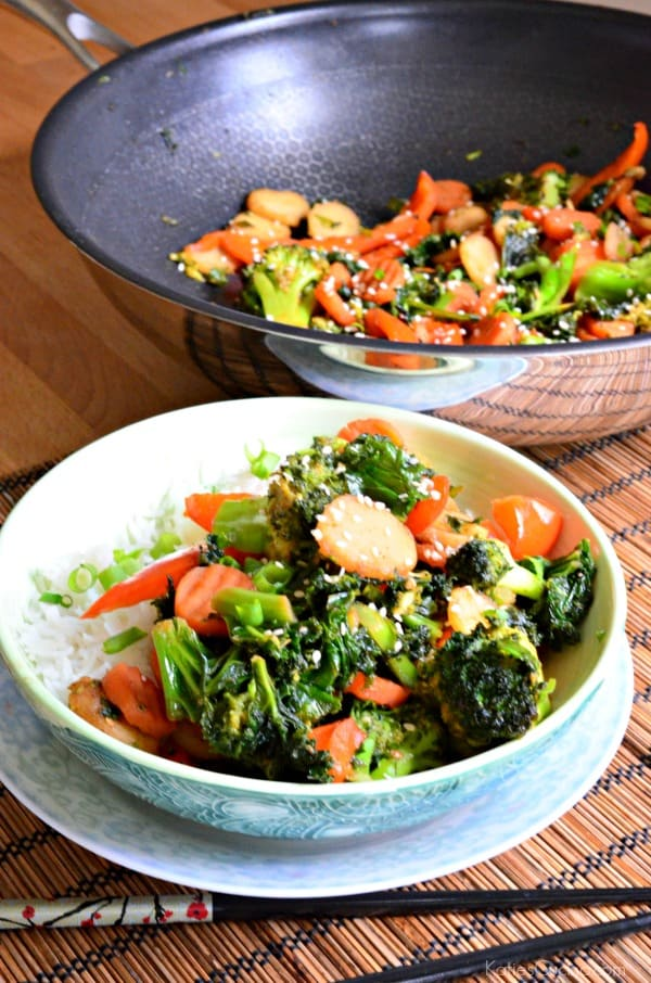 Kale Carrot and Broccoli Stir-Fry 2