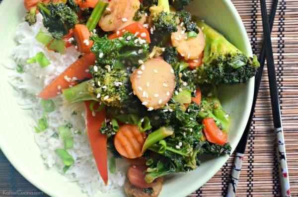 Kale Carrot and Broccoli Stir-Fry 3