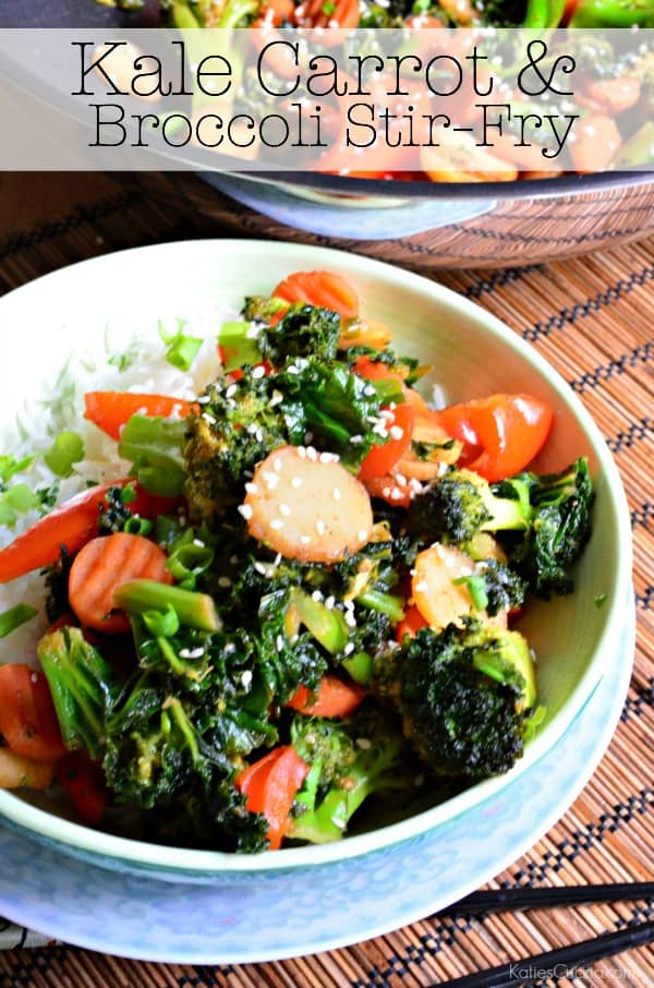 Kale Carrot and Broccoli Stir-Fry