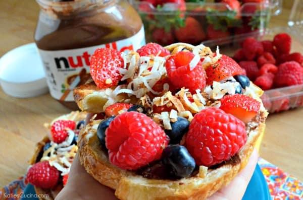Nutella Berry Croissants