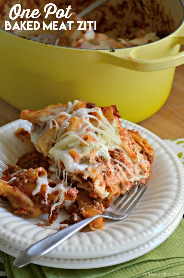 One Pot Baked Meat Ziti
