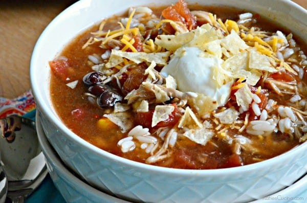 Slow Cooker Chicken Enchillada Soup 1-1