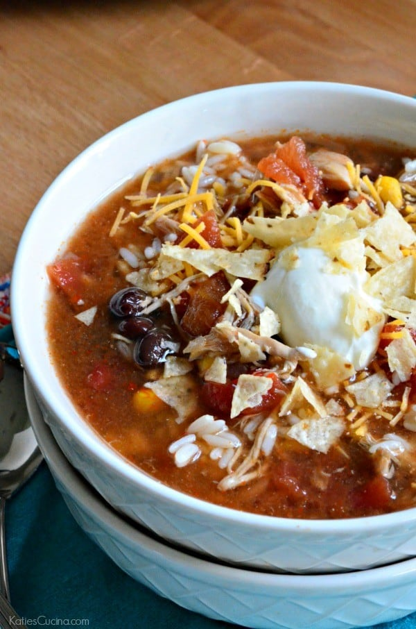 Slow Cooker Chicken Enchillada Soup 3-1
