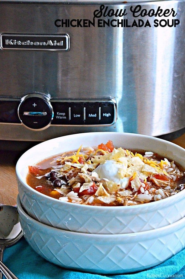 Slow Cooker Chicken Enchillada Soup