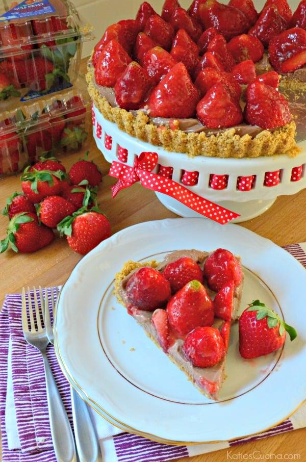 Strawberry Chocolate Cream Cheese Tart 3