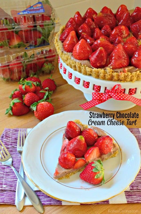 Strawberry Chocolate Cream Cheese Tart