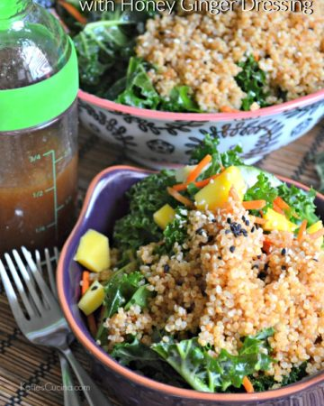 Quinoa & Kale Salad with Honey Ginger Dressing