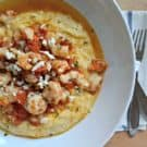 Make this easy weeknight recipe of Rock Shrimp with Tomato Basil Feta Cheese Grits in less than 30 minutes!