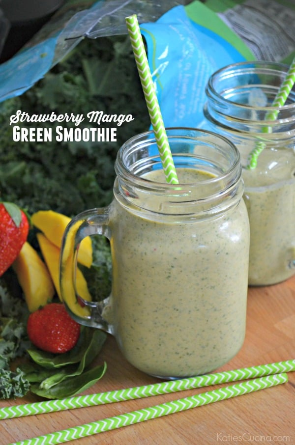 Strawberry Mango Green Smoothie
