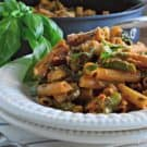 one-pot Creamy Sun-Dried Tomato Chicken Ziti Skillet