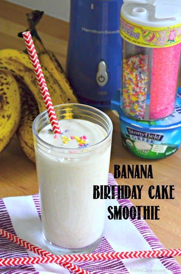Banana Birthday Cake Smoothie