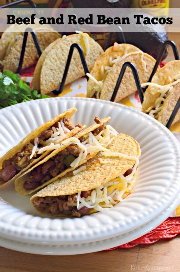 Beef and Red Bean Tacos