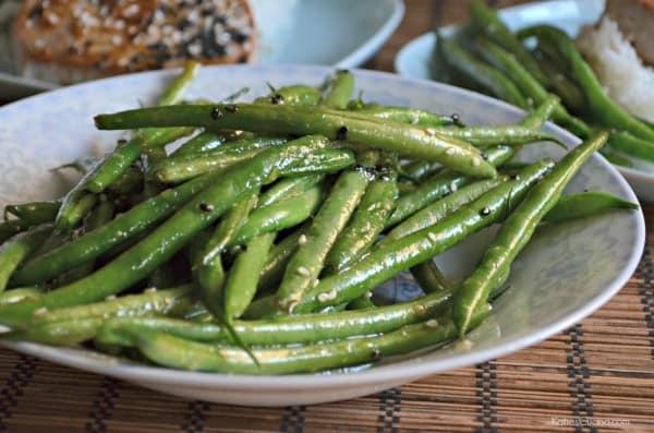 Honey Sesame Green Beans