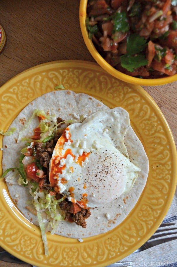 Open-Faced Mexican Breakfast Tacos 1