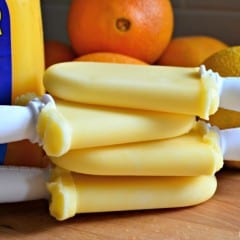 3-Ingredient Orange Creamsicle Yogurt Pops