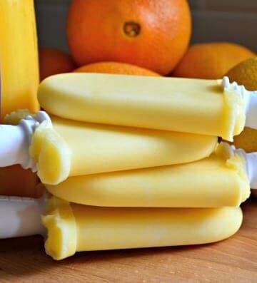 3-Ingredient Orange Creamsicle Yogurt Pops