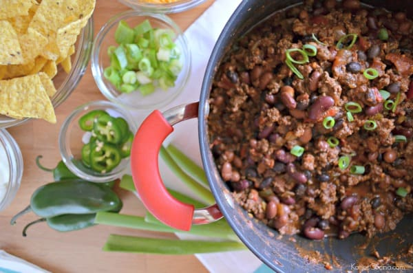 Chunky Beef Chili with 3 Beans