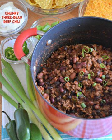 Chunky Three-Bean Beef Chili