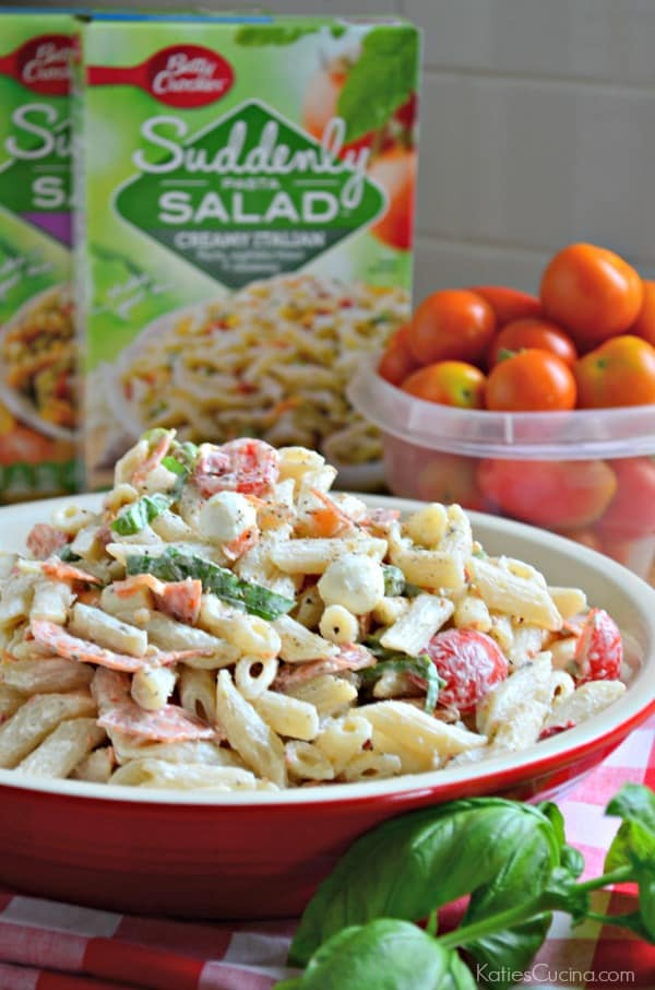 Creamy Pepperoni Pizza Pasta Salad 3