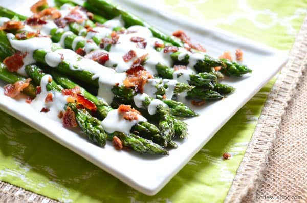 Grilled Asparagus With Bacon Vinaigrette Recipe — Dishmaps