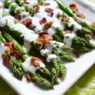 Grilled Asparagus with Bacon Ranch Greek Yogurt Dressing