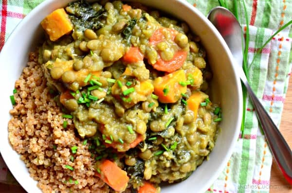 The perfect meatless meal >> Lentil Stew!