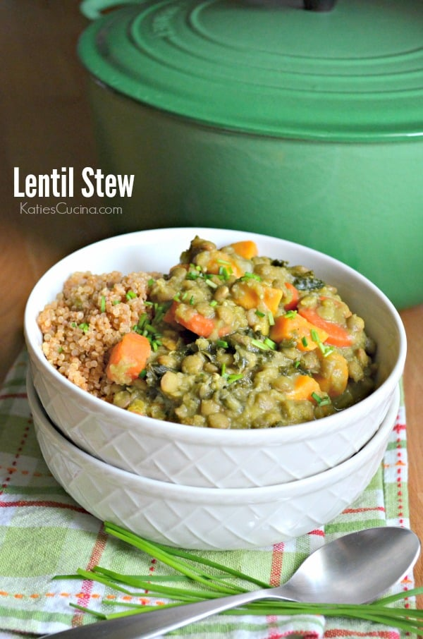 The most amazing lentil stew recipe made in just under an hour and perfect for a meatless monday!