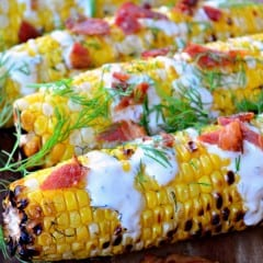 Bacon, Ranch, and Dill Grilled Corn on the Cob