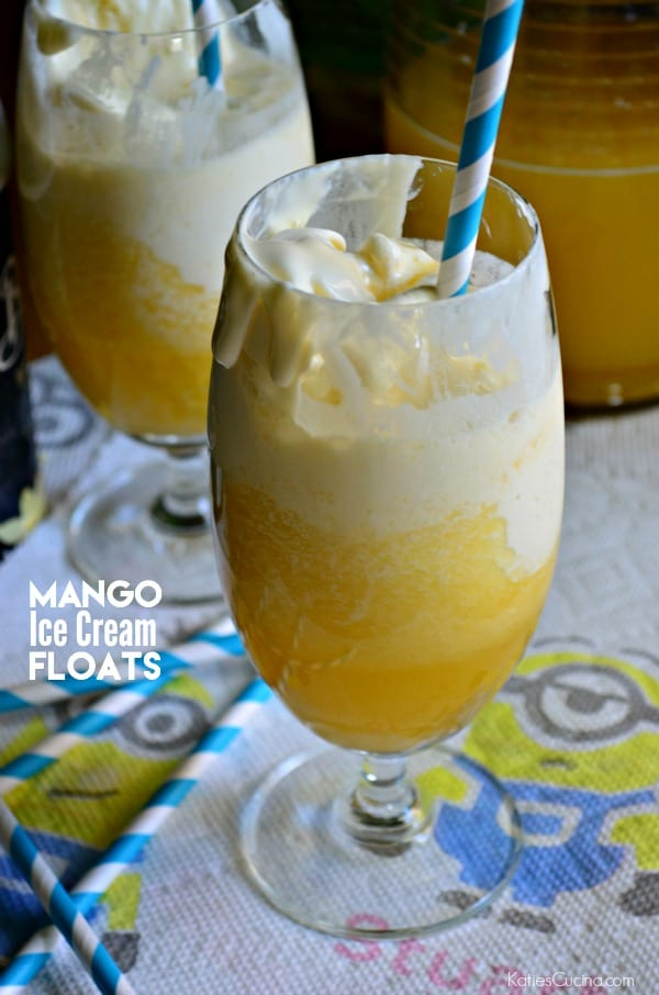 Mango Ice Cream Floats