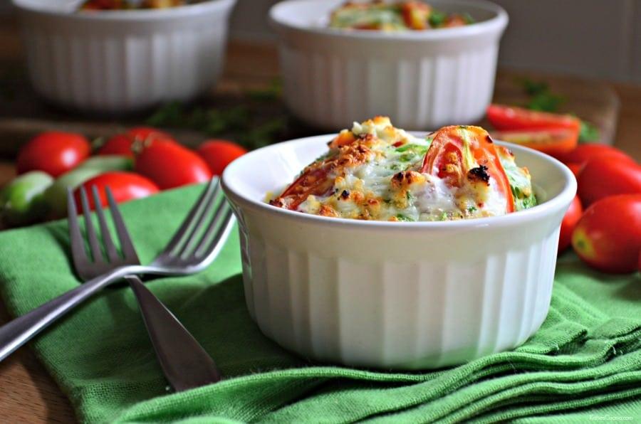 Tomato, Spinach and Feta Egg White Soufflés