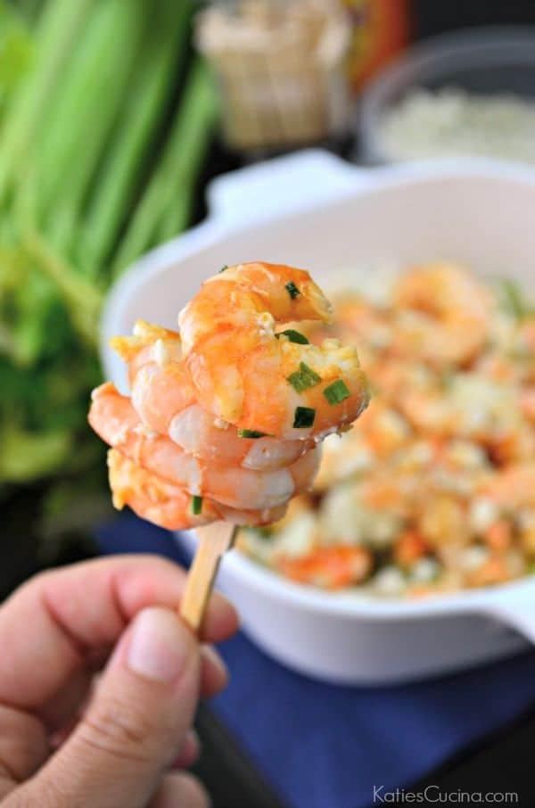 Sautéed Buffalo Shrimp with Bleu Cheese