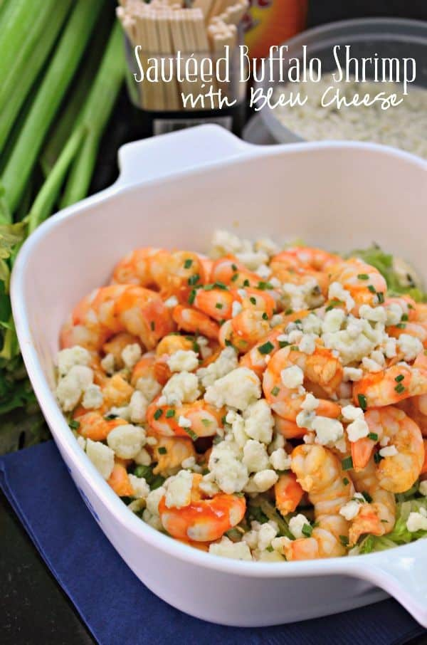 Sautéed Buffalo Shrimp with Bleu Cheese