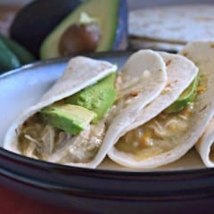 Slow Cooker Creamy Green Chile Shredded Chicken Tacos 2