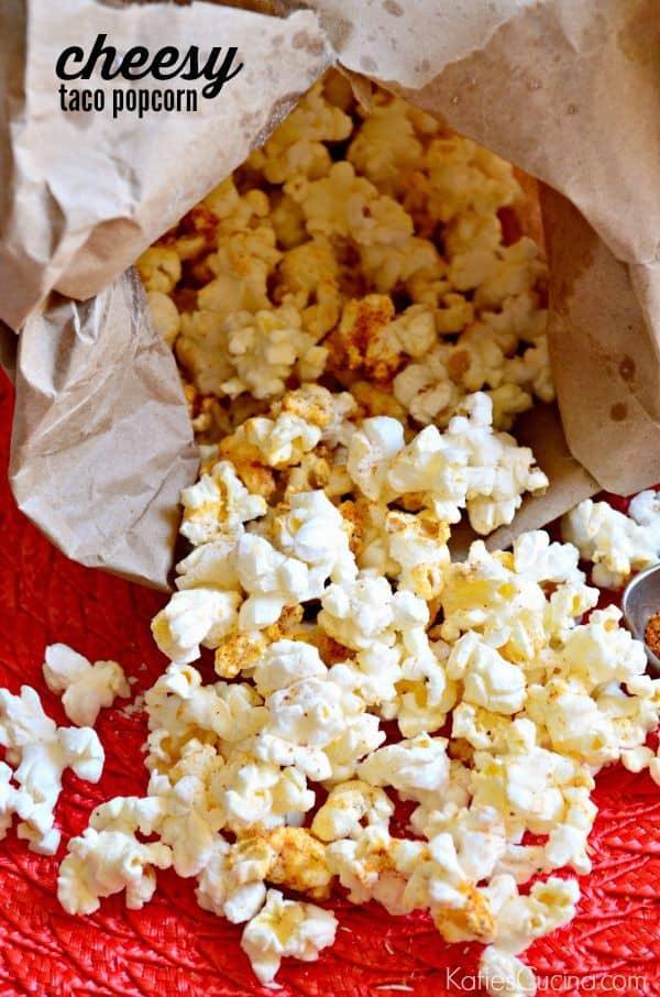 cheesy taco popcorn