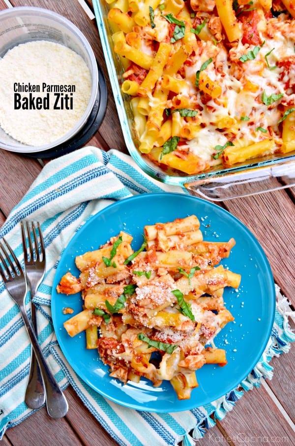 chicken parmesan baked ziti