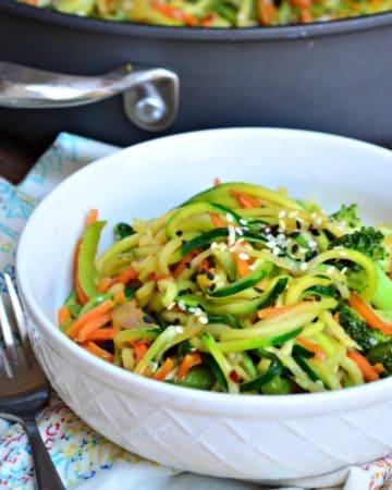 zoodle veggie stir fry recipe
