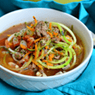 Beef Zoodle soup recipe #LaurasLeanBeef #SmarterBeef #Sponsored