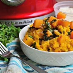 Butternut Squash and Kale Risotto Recipe! Perfect dinner idea.